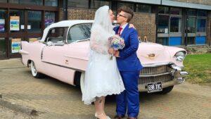 1956 Cadillac Wedding Car Karis & Jennifer