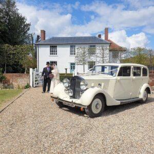 Wedding Essex Rachel and Andy Rolls Royce