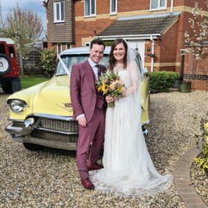 Becky & Joe Yellow Cadillac Wedding Essex